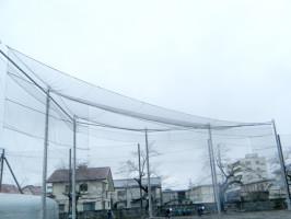 野球場の防球ネット・天井部