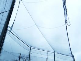 校庭・野球グランドの天井部(吊り網)工事
