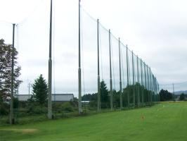 ゴルフ練習場の網の張り替え施工(左面)