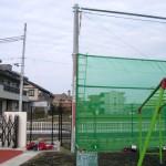 スポーツネット(防球ネット)工事1